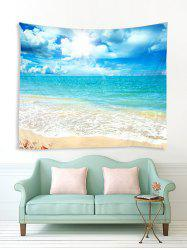 Beach Shell Sea Sunshine 3D Print Wall Tapestry -