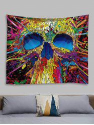Abstract Skull Pattern Printed Tapestry -