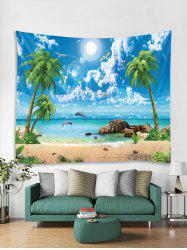 Coconut Palm Sea Beach Pattern Printed Tapestry -