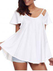 Scoop Neck Cutout Tunic Top -