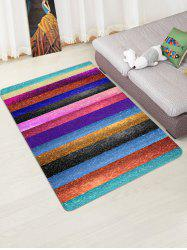 Striped Print Design Floor Mat -