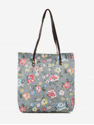 Pattern Print Canvas Tote Bag -