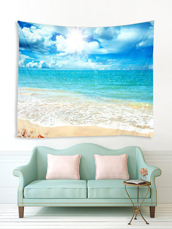 Sale Beach Shell Sea Sunshine 3D Print Wall Tapestry
