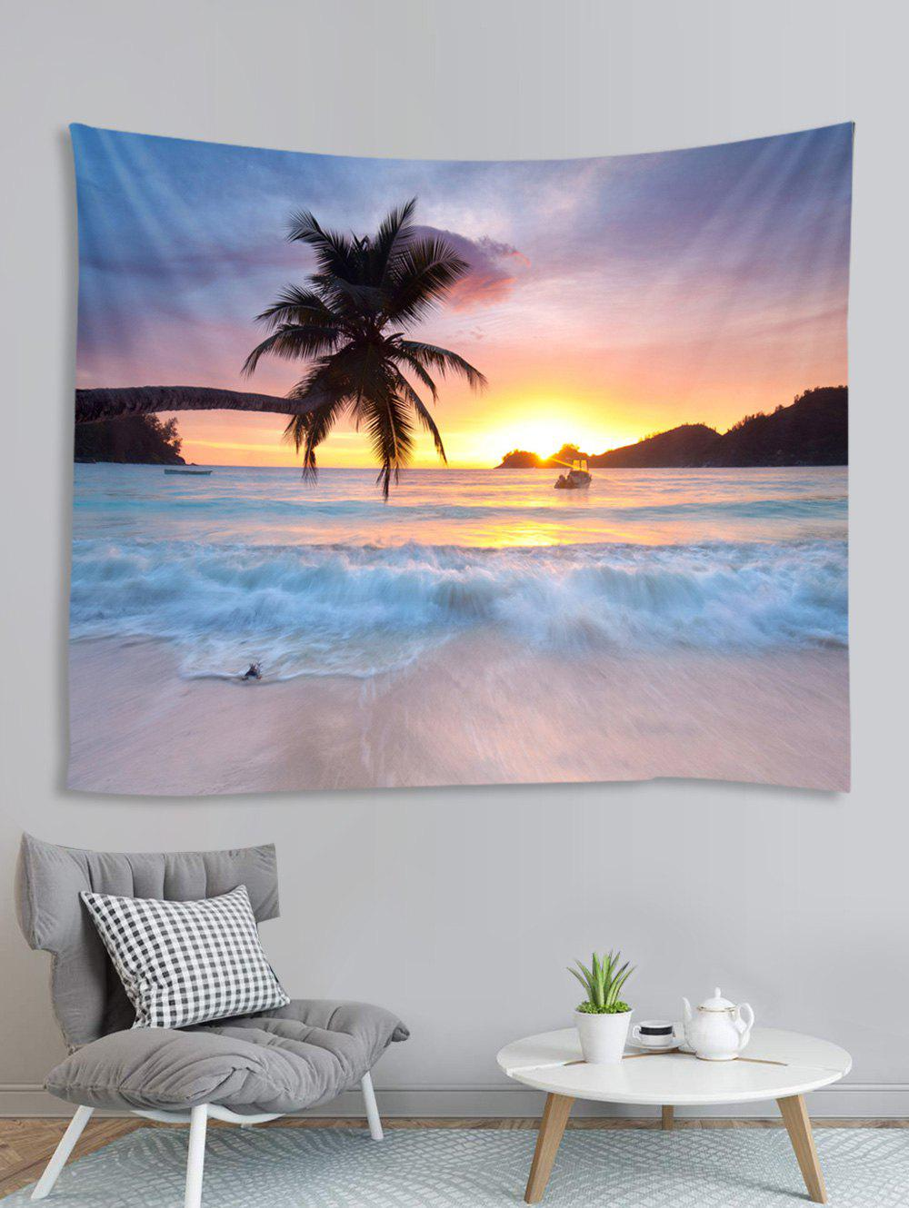 Shop Coconut Sea Beach Pattern Printed Tapestry
