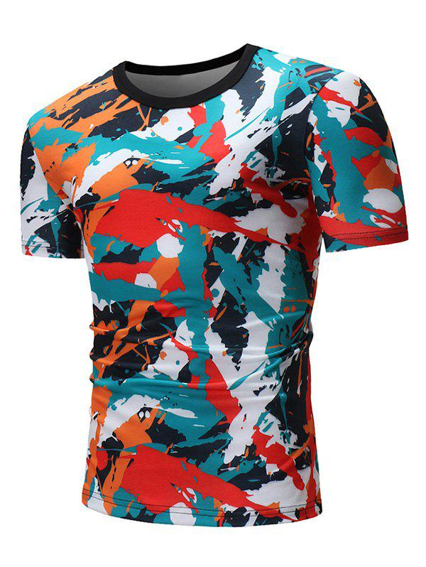 18f8f380c3 28% OFF] Colorful Painting Graphic Print Short Sleeve T-shirt | Rosegal