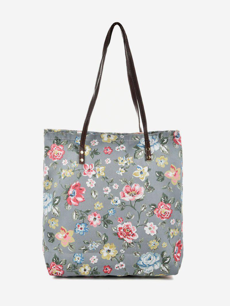 Cheap Pattern Print Canvas Tote Bag