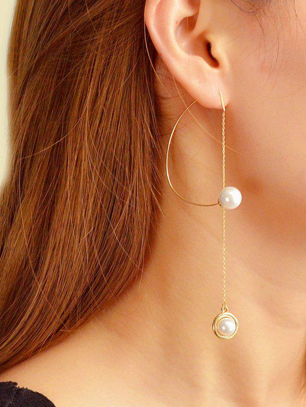 Affordable Single Faux Pearl Long Chain Earrings