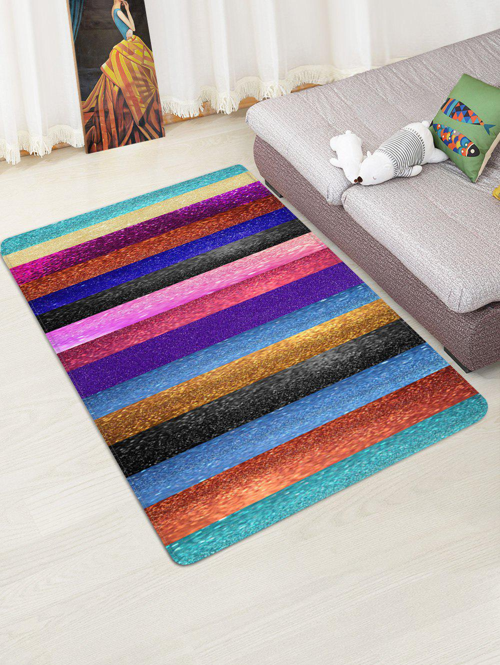 Trendy Striped Print Design Floor Mat