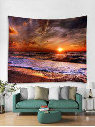 Sunset Sea Pattern Printed Tapestry -