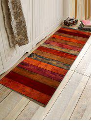 Colored Wood Board Pattern Water Absorption Area Rug -