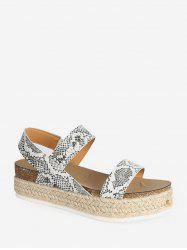 Slip On Rome Platform Espadrille Sandals -