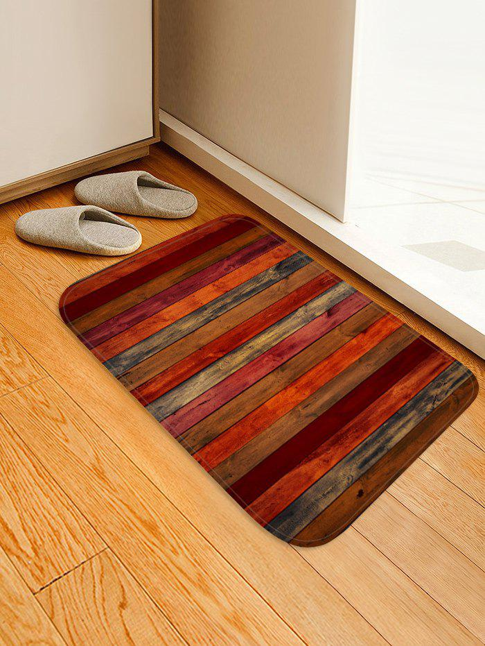 Affordable Colored Wood Board Pattern Water Absorption Area Rug