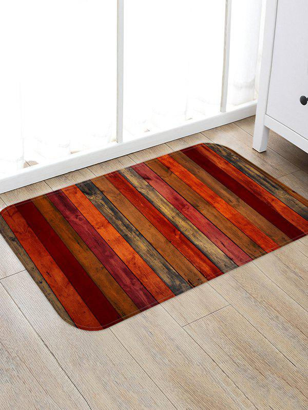 Trendy Colored Wood Board Pattern Water Absorption Area Rug