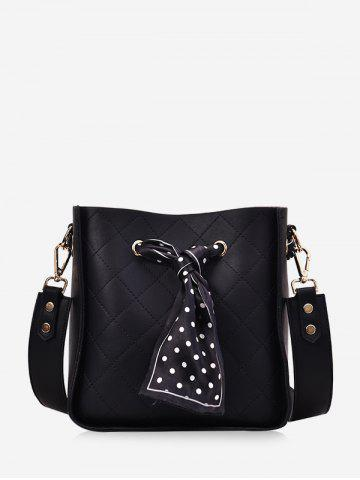 Grid Pattern Solid Crossbody Bag