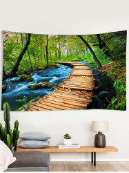 Forest Stream Trail Print Tapestry Wall Hanging Art Decoration -