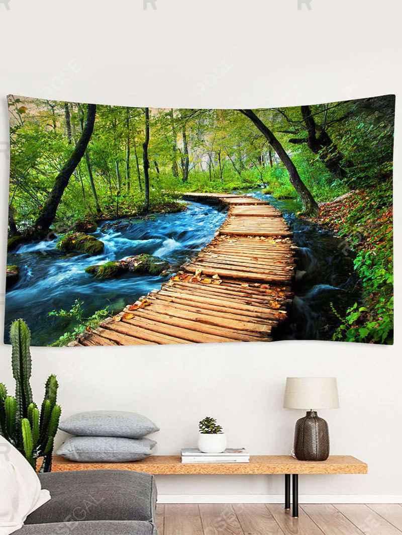 Cheap Forest Stream Trail Print Tapestry Wall Hanging Art Decoration