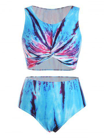 Tie Dye Twisted Padded Tankini Swimwear