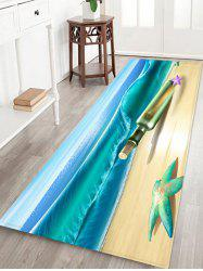 Beach Starfish Drift Bottle Pattern Water Absorption Area Rug -