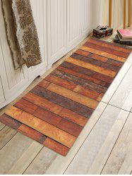Wooden Printed Pattern Floor Mat -