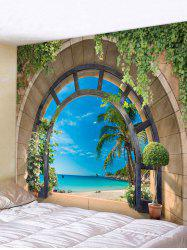 Seaside Arch Print Tapestry Wall Hanging Art Decor -