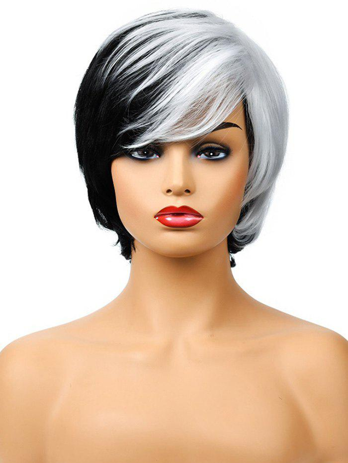 Online Gothic Style Short Side Bang Synthetic Straight Wig