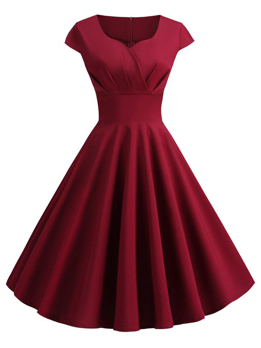 Latest Plus Size Vintage Fit and Flare Dress
