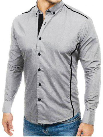 Color Spliced Casual Full Sleeves Shirt