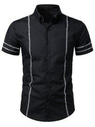 Stitching Decorated Casual Short Sleeves Shirt -