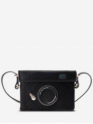 Rectangle Camera Design Quilted Crossbody Bag -