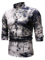 Ethnic Ink Painting Long Sleeves Shirt -