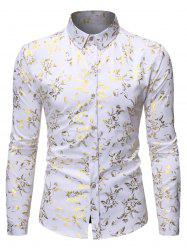 Gilding Floral Print Long Sleeves Shirt -