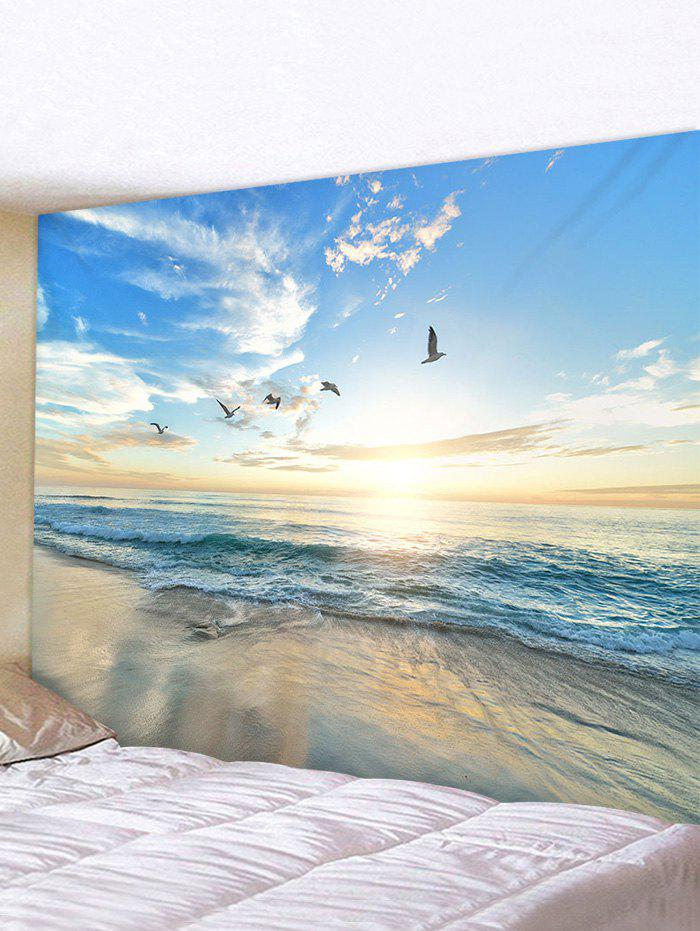Fancy Sunrise Seaside Birds Print Tapestry Wall Hanging Art Decoration