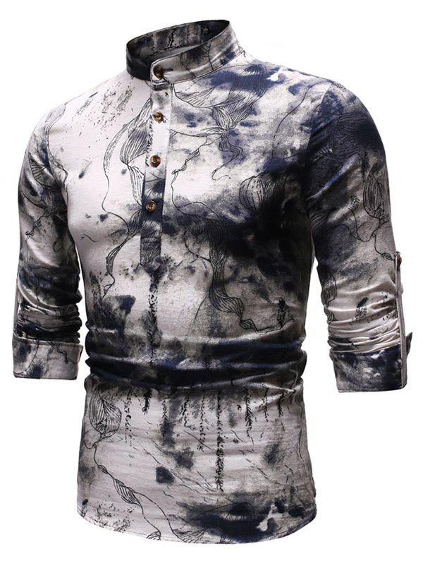 Latest Ethnic Ink Painting Long Sleeves Shirt