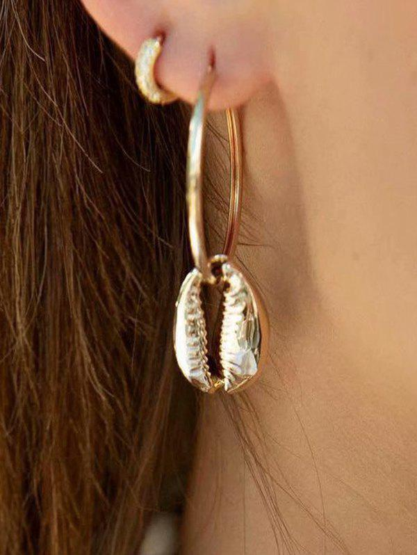 Cowrie Shell Hoop Earrings фото