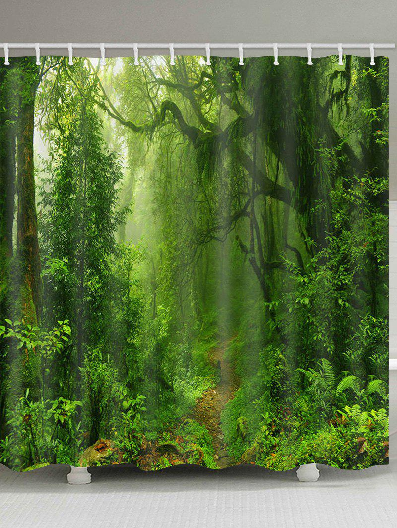 Discount Forest Trail Print Waterproof Bathroom Shower Curtain