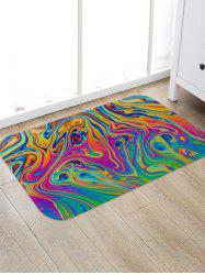 Abstract Colored Print Anti-slip Floor Rug -