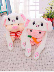 Funny Moving Cartoon Animal Ears Plush Toy -