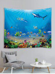 Underwater Animals Printed Tapestry Wall Hanging Art Decoration -