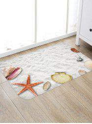 Beach Starfish Shell Print Floor Mat -