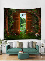 Forest Gate Print Tapestry Wall Hanging Art Decoration -