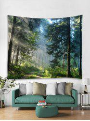 Sunlit Forest Trail Print Tapestry Wall Hanging Art Decoration -