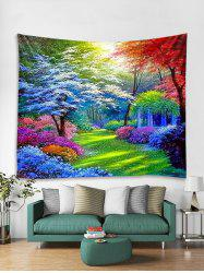 Colorful Forest Trail Print Tapestry Wall Hanging Art Decoration -