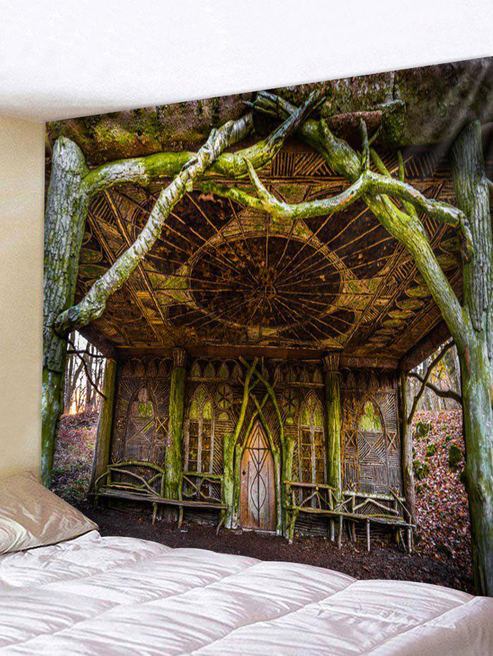 Unique Dead Tree House Print Tapestry Wall Hanging Art Decoration