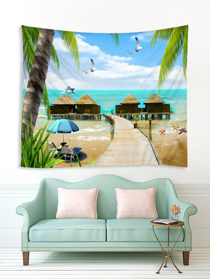Shops Seaside House Print Tapestry Wall Hanging Art Decoration
