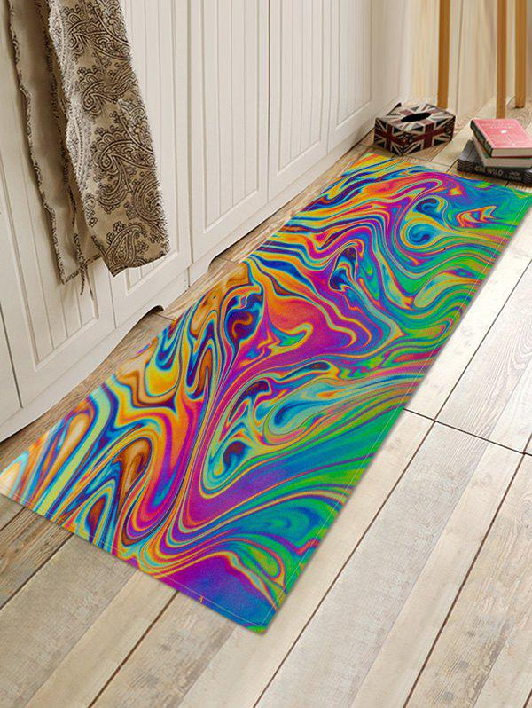Discount Abstract Colored Print Anti-slip Floor Rug