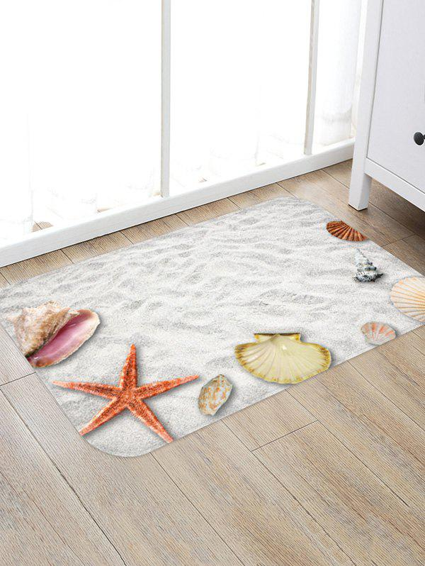 New Beach Starfish Shell Print Floor Mat