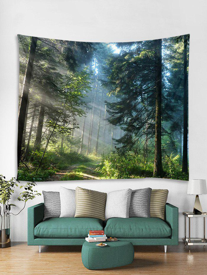 Shops Sunlit Forest Trail Print Tapestry Wall Hanging Art Decoration