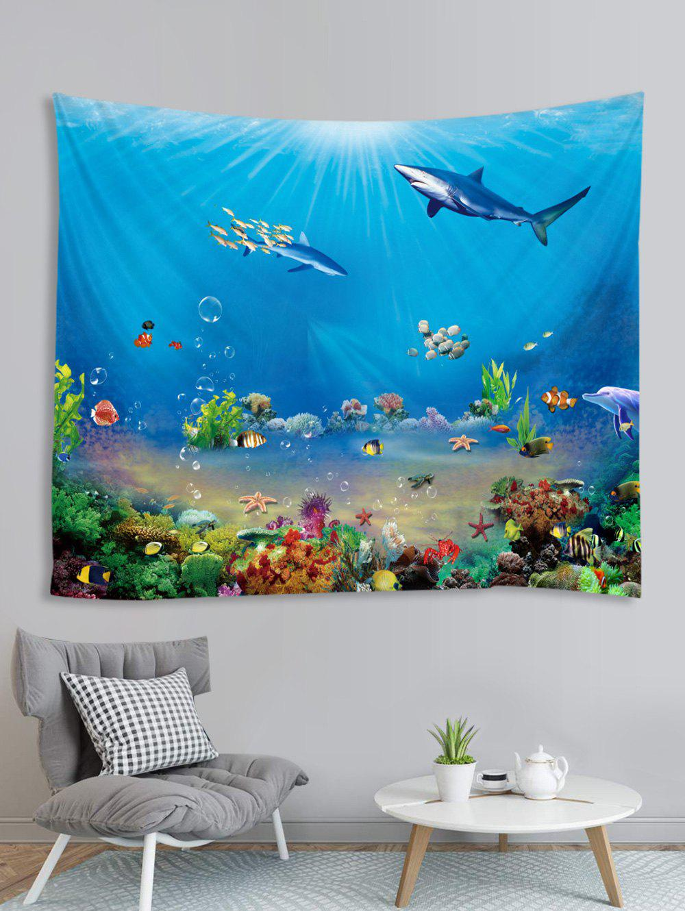Outfit Underwater Animals Printed Tapestry Wall Hanging Art Decoration