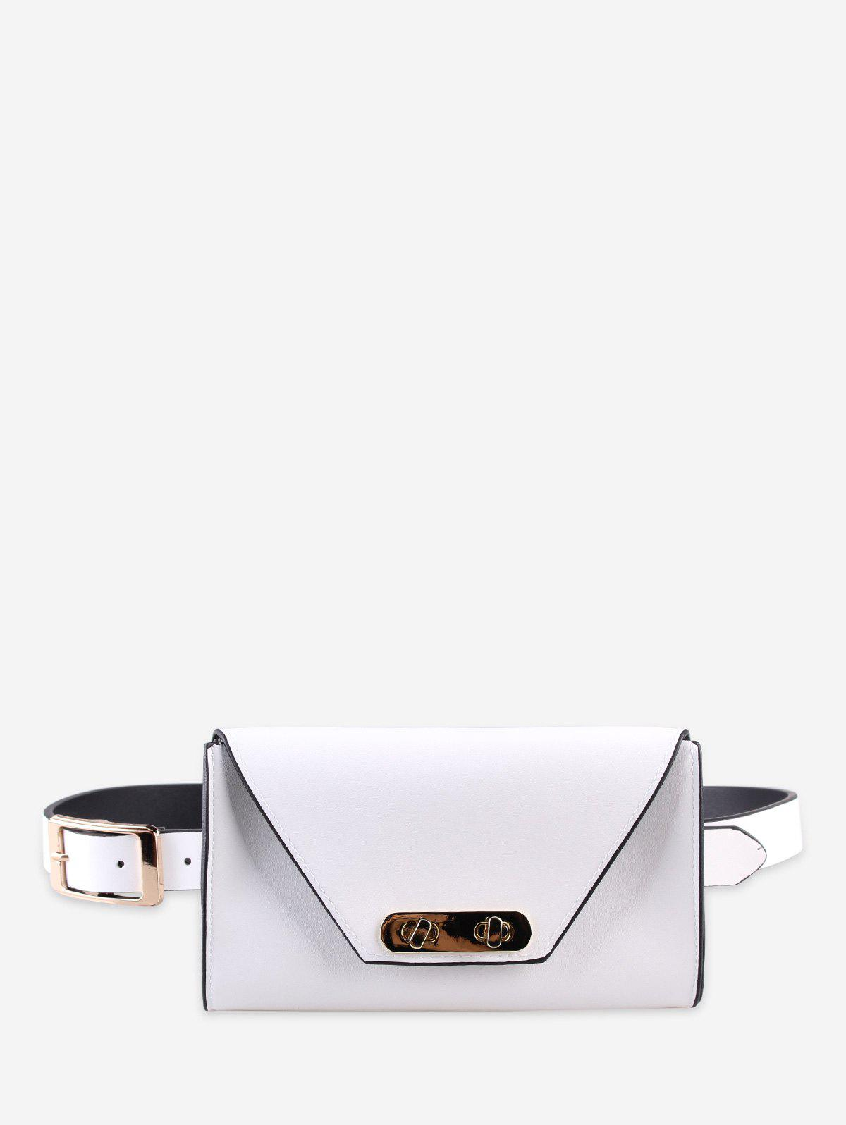 Chic PU Geometric Belt Bag