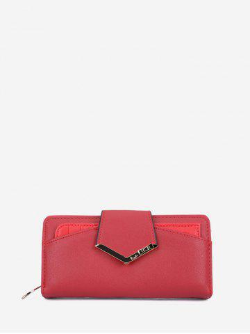 Long Leather Coin Clutch Bag